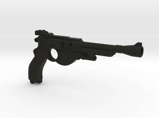 Mandalorian Blaster 1:6 scale in Black Premium Versatile Plastic