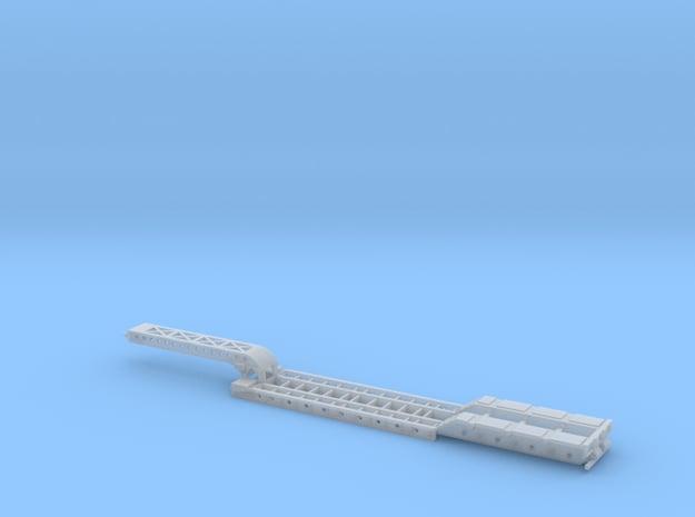 4-Axle Long Gooseneck Lowboy in Smooth Fine Detail Plastic