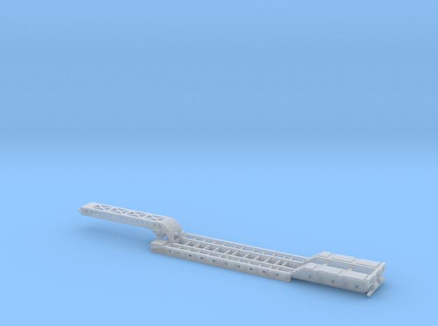 3-Axle Long Gooseneck Lowboy in Smooth Fine Detail Plastic