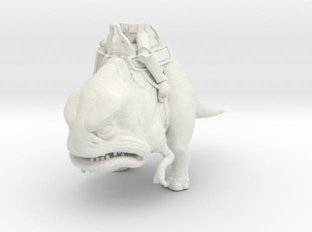 Two-Legged Dino Mount w/ Classic Buckethead Legs ( in White Natural Versatile Plastic