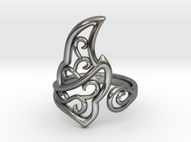 Kaya's Ring in Polished Silver