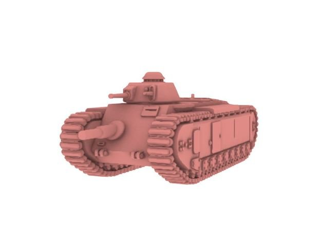 1/87 AMX-37 in White Natural Versatile Plastic