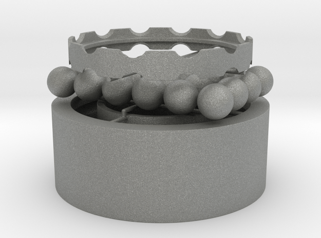 3D Printable Water Proof Ball Bearings Assembly #1 in Gray PA12