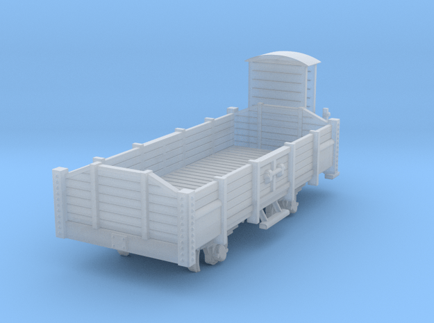 Open wagon H0m in Smooth Fine Detail Plastic