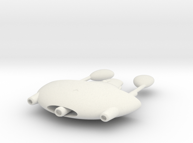 Romulan Clavicle class in White Natural Versatile Plastic