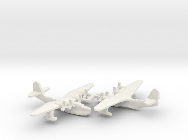 Russian Tupolev MTB-2 Flying Boat (x2) in White Natural Versatile Plastic