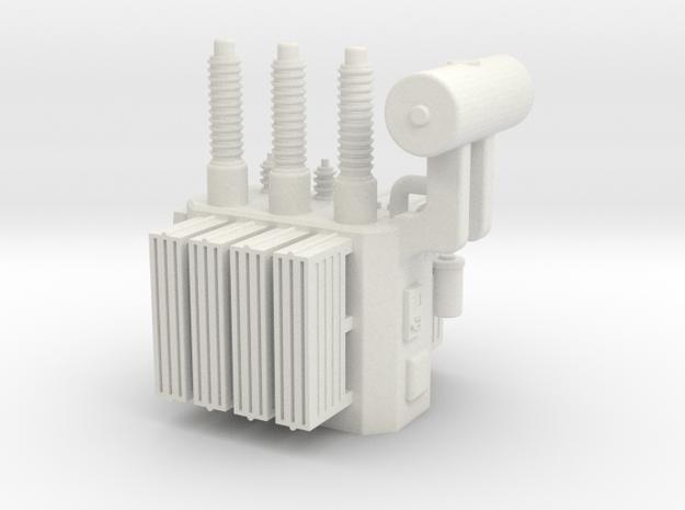 High Voltage Oil Filled Transformer in White Natural Versatile Plastic: 1:64 - S