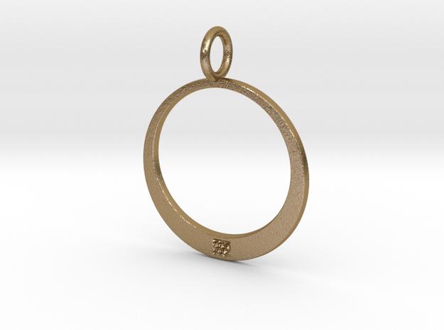 LKP Women's oval pendant in Polished Gold Steel