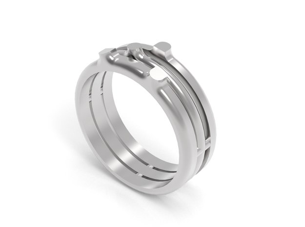 SPROUT RING - SIZE 8 in Fine Detail Polished Silver