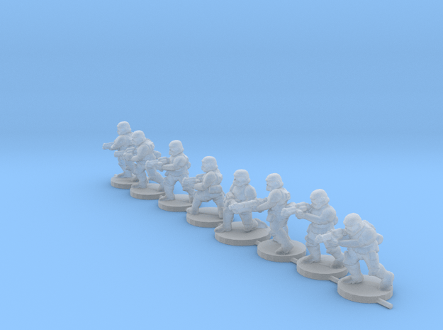 15mm Knights Squad 3 in Smooth Fine Detail Plastic