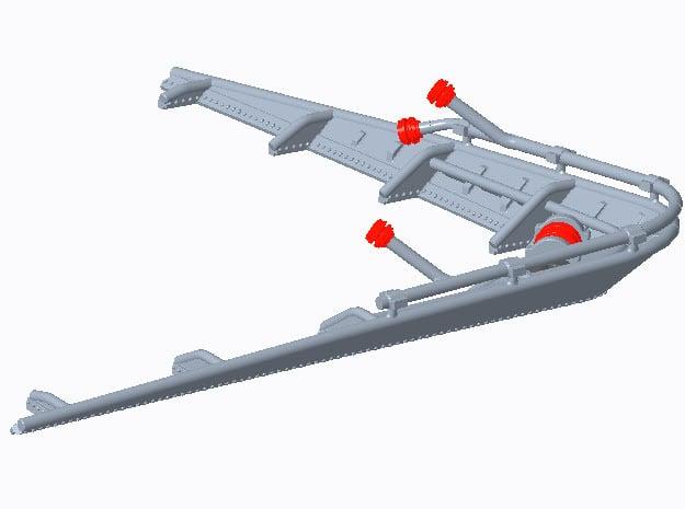 Wellenbrecher in 1:96 für S-Boot Typ 148 in Smooth Fine Detail Plastic