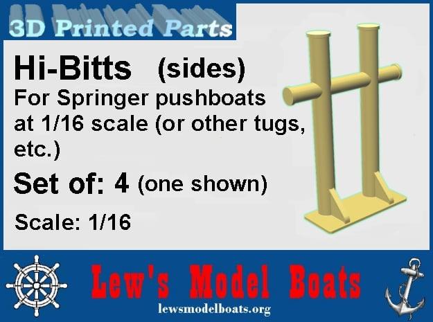 Springer H-Bitt (small for sides) set of 4 (1/16) in White Natural Versatile Plastic: 1:16