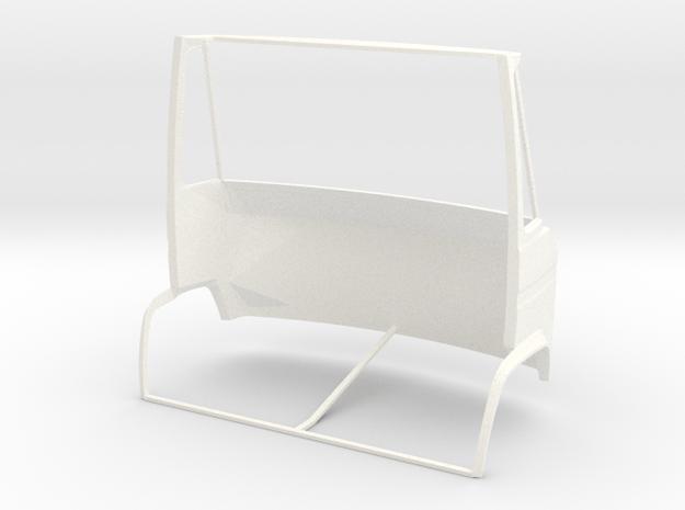 Mercedes Benz Dusseldorfer Front section 1/24 in White Processed Versatile Plastic