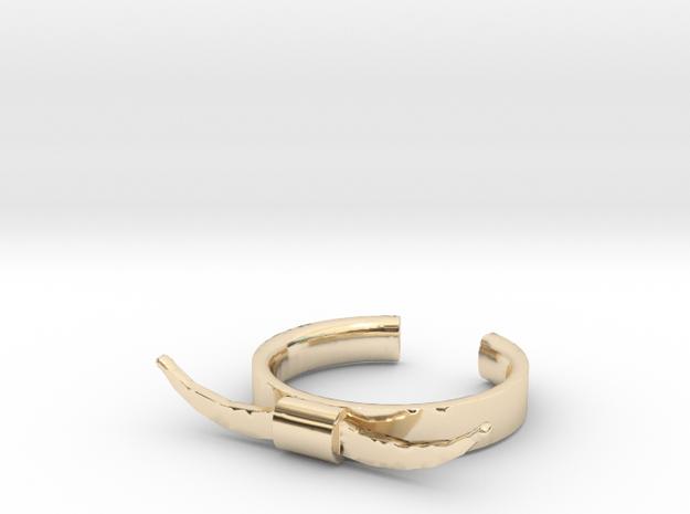 Bull Horn Ring (9) in 14K Yellow Gold