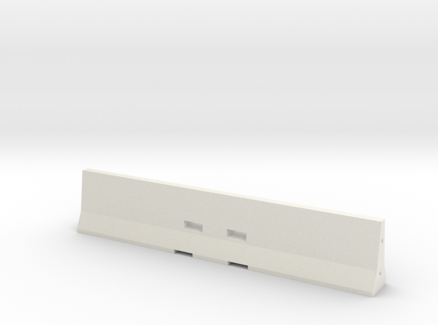 Concrete Barrier 1-18 in White Natural Versatile Plastic