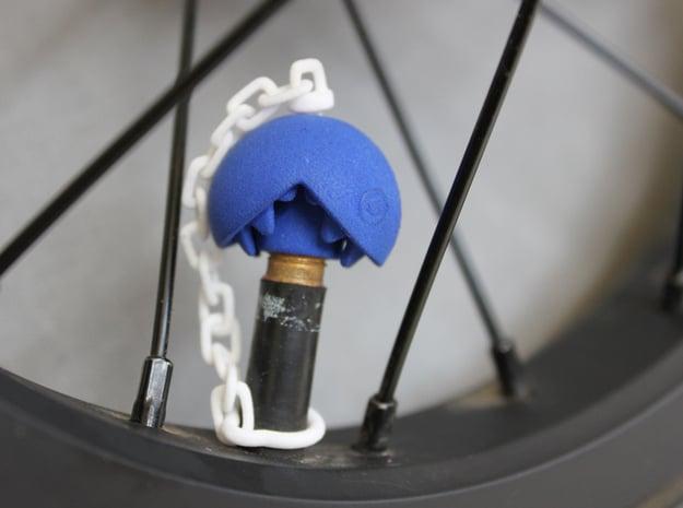 Chomp Head-Schrader-Pair - part 1 of 2 in Blue Processed Versatile Plastic