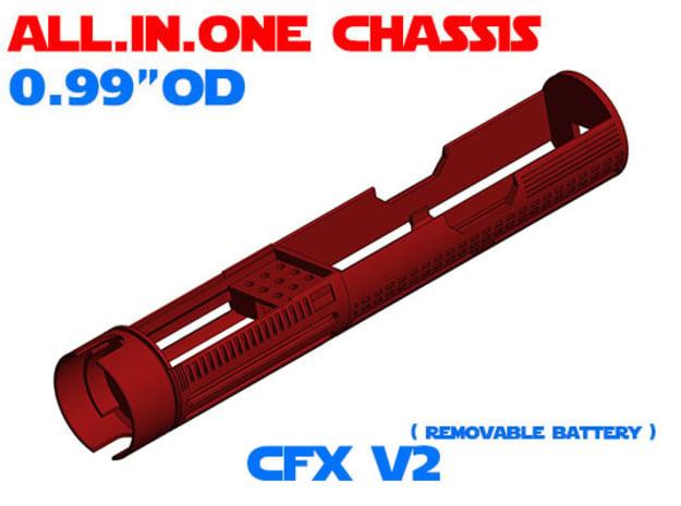 "ALL.IN.ONE - 0.99""OD - CFX V2 in White Natural Versatile Plastic"