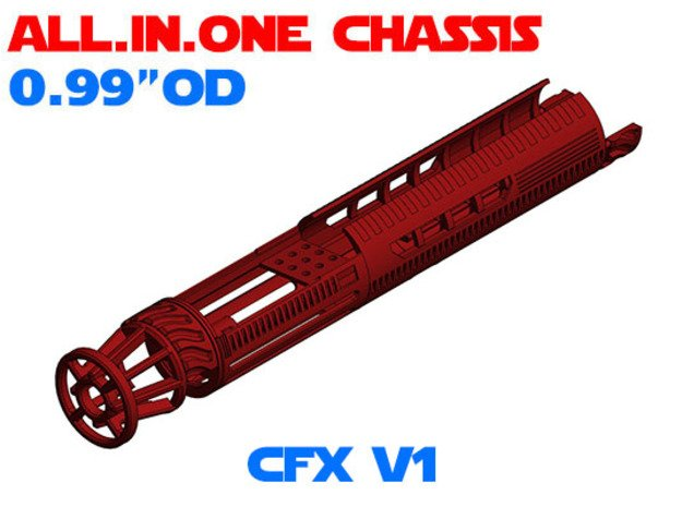 "ALL.IN.ONE - 0.99""OD - CFX V1 in White Natural Versatile Plastic"