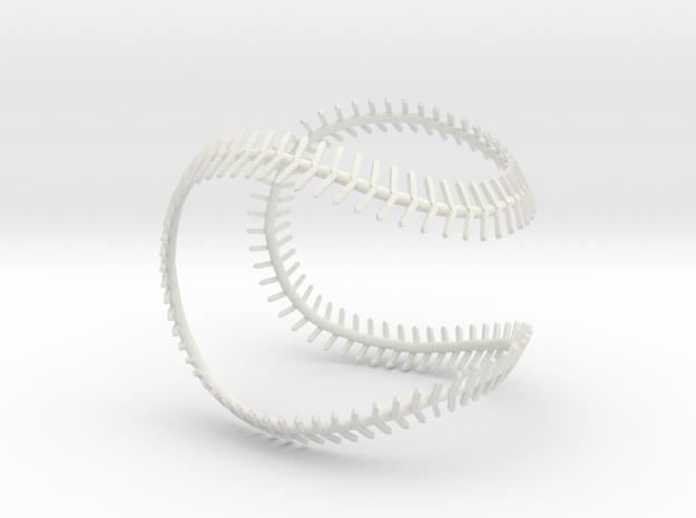 Implied Baseball in White Natural Versatile Plastic