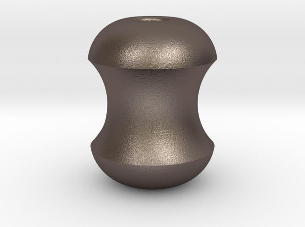 Apple Cores : Begleri Bead  in Polished Bronzed-Silver Steel
