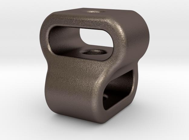 Interlock : Begleri Bead (V2) in Polished Bronzed-Silver Steel