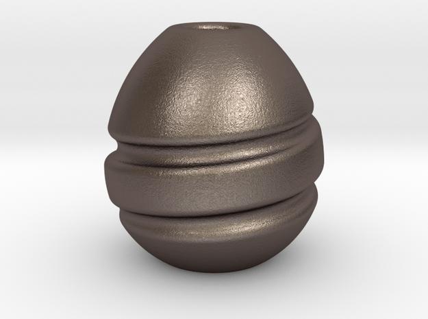 Bells : Begleri Bead  in Polished Bronzed-Silver Steel