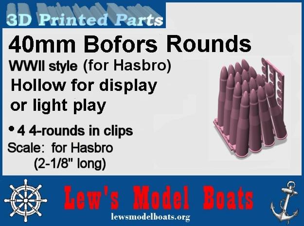 Hasbro-40mm-Bofors-2-setof-4-hollow in White Natural Versatile Plastic: Medium