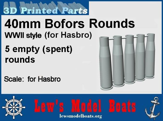 Hasbro-40mm-Bofors-rounds-2-5empties in White Natural Versatile Plastic: Medium