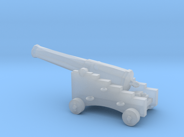 1/72 Scale 32 Pounder M1845 on Naval Carriage in Smooth Fine Detail Plastic