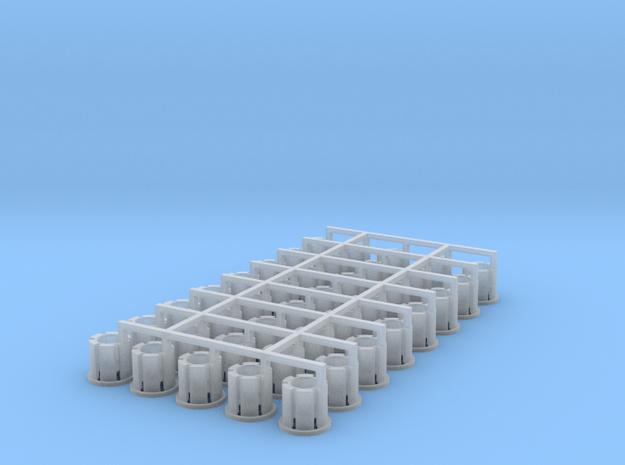 40 Felgen für Tieflader TU 3 / TU 4 in Smooth Fine Detail Plastic