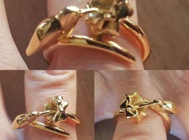 Anello Colibrì Ring in 18k Gold Plated Brass: 7 / 54
