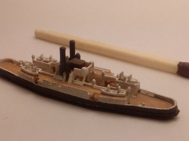 Trainferry D/F Helsingborg (1902) in Smoothest Fine Detail Plastic: 1:1250