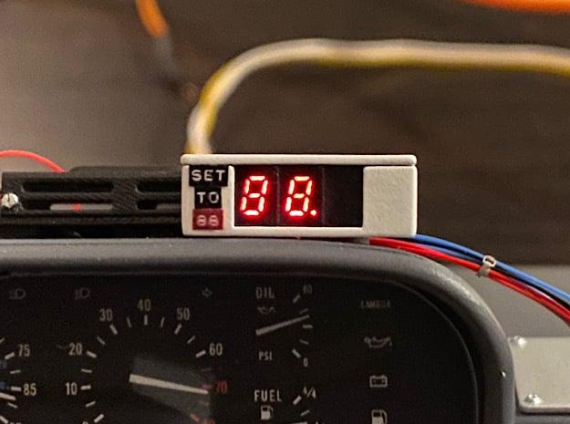 1:8 BTTF DeLorean Speedometer in Smoothest Fine Detail Plastic