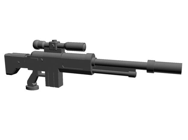 SciFi Sniper rifles 28mm x20 in Smoothest Fine Detail Plastic