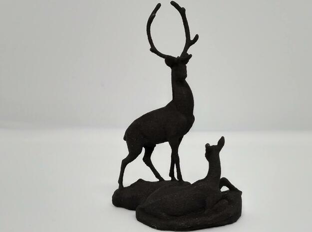 Deers in Black Natural Versatile Plastic