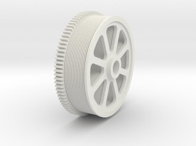 Bethlehem Steel Gear Pulley in White Natural Versatile Plastic: 1:160 - N