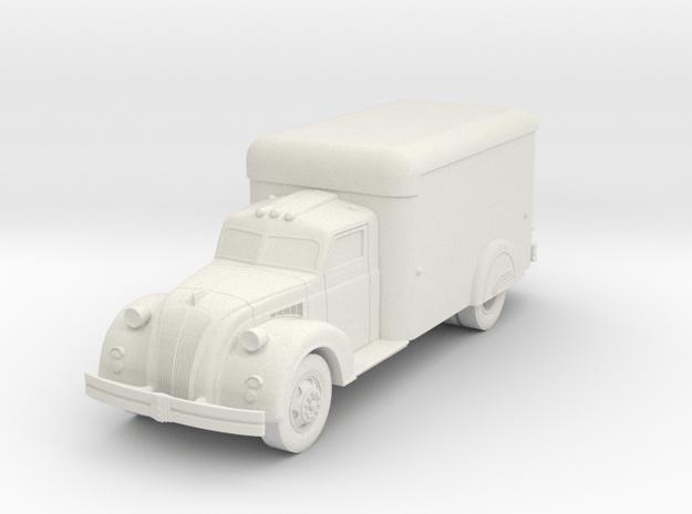 1938 Dodge Airflow Box Truck in White Natural Versatile Plastic