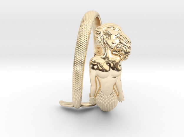 Mermaid Ring - Expandable in 14K Yellow Gold