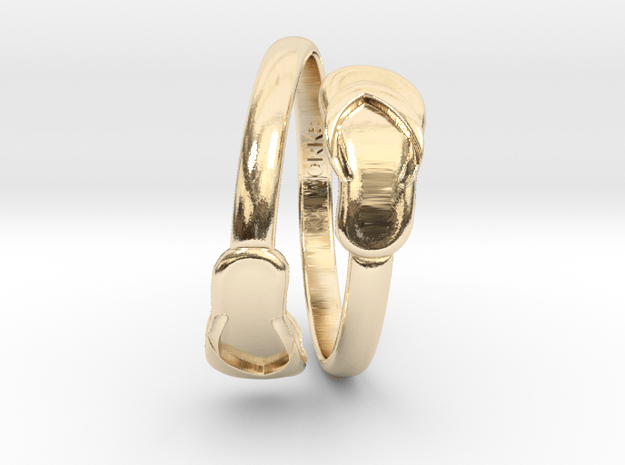 Flip-Flop Ring in 14k Gold Plated Brass