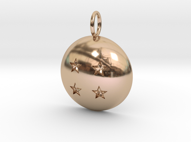 The Four Star Dragon Ball in 14k Rose Gold Plated Brass