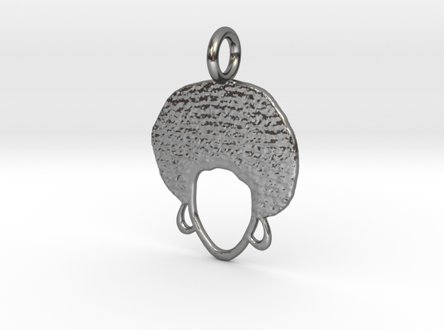 Afrocentric Woman MWM in Polished Silver