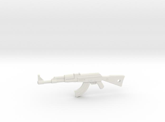 AK-47 Pendant in White Natural Versatile Plastic