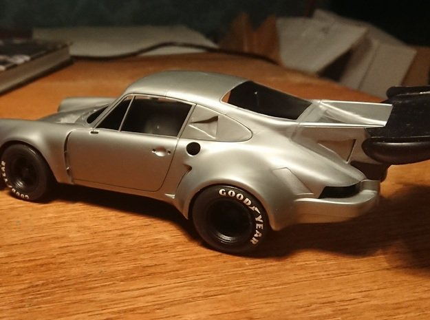 Carrera RSR Front and Rear Tires in Smoothest Fine Detail Plastic