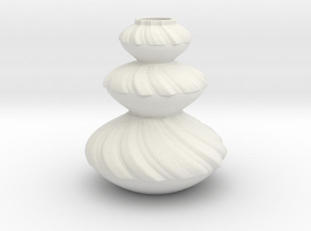Vase 2114 in White Natural Versatile Plastic