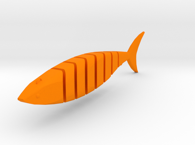 Javallon Fishing Lure in Orange Processed Versatile Plastic