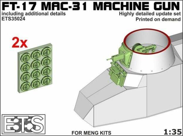 ETS35024 - FT-17 MAC31 machine gun [1:35] in Smooth Fine Detail Plastic