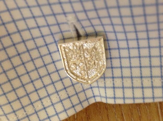 Heraldic Cufflinks [Stewart-Melville] in Polished Silver