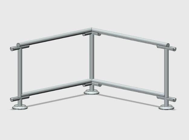 6' Fence Frame 90 deg. Corner (2ea.) in White Natural Versatile Plastic: 1:87 - HO