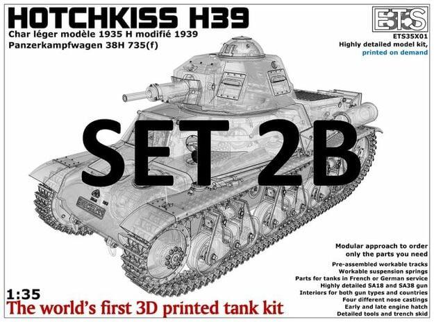 ETS35X01 Hotchkiss H39 - Set 2 option B - SA38 in Smooth Fine Detail Plastic