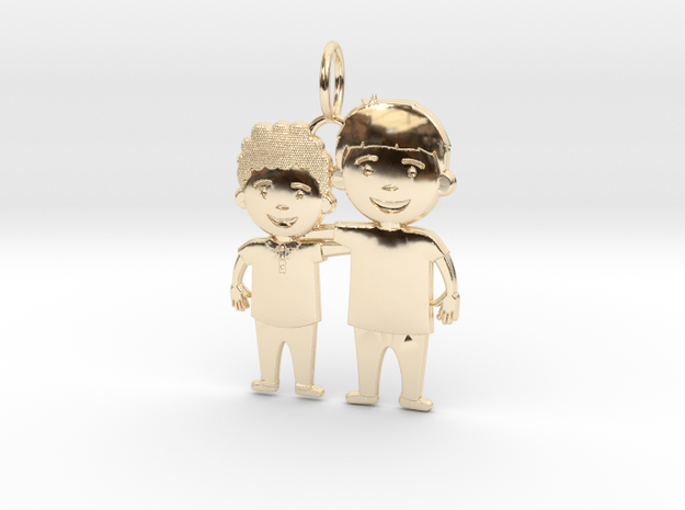 Sons - Brothers - Siblings - Mom's necklace in 14K Yellow Gold